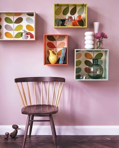 cajas de frutas con papel pintado