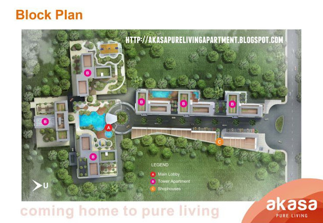 Gambar Block Plan Akasa Pure Living Tower Kaylana