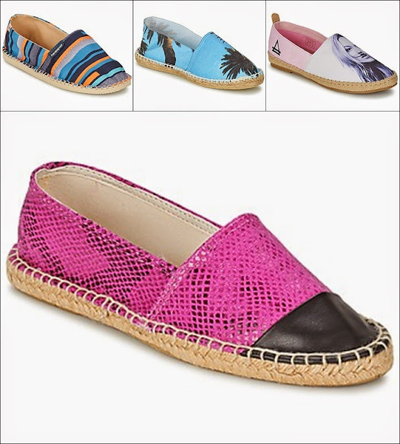 Alpergatas, Espadilhas Arte of sole e Moschino, 1789 Cala, BT London, Replay, Havaianas, Espakate