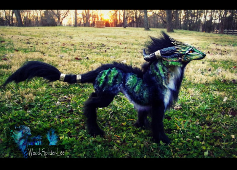 Image of a fantasy type creature that looks like a cross between a large fox and a horse.