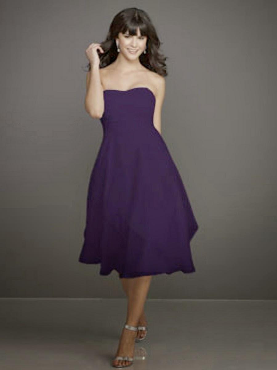 Vestidos de Gasa, Elegantes, Purpura