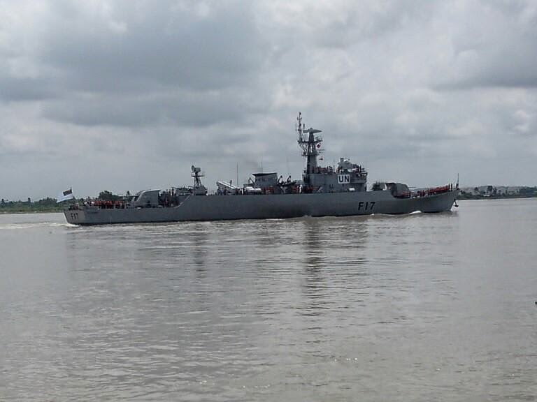 BNS Ali Haider Frigate of Bangladesh navy in Lebanon