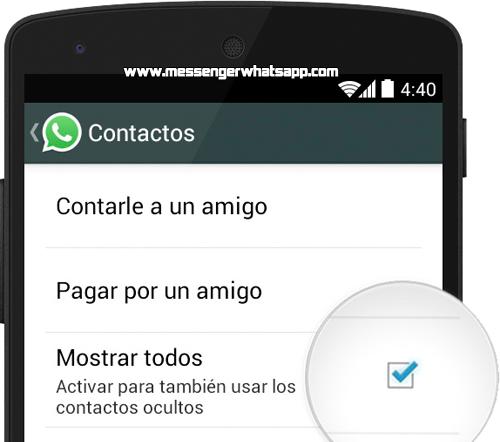 Problemas para ver mis contactos de WhatsApp en Android