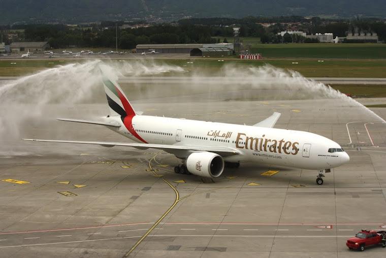 EMIRATES Inaugaral flight at GVA(01-06-2011).