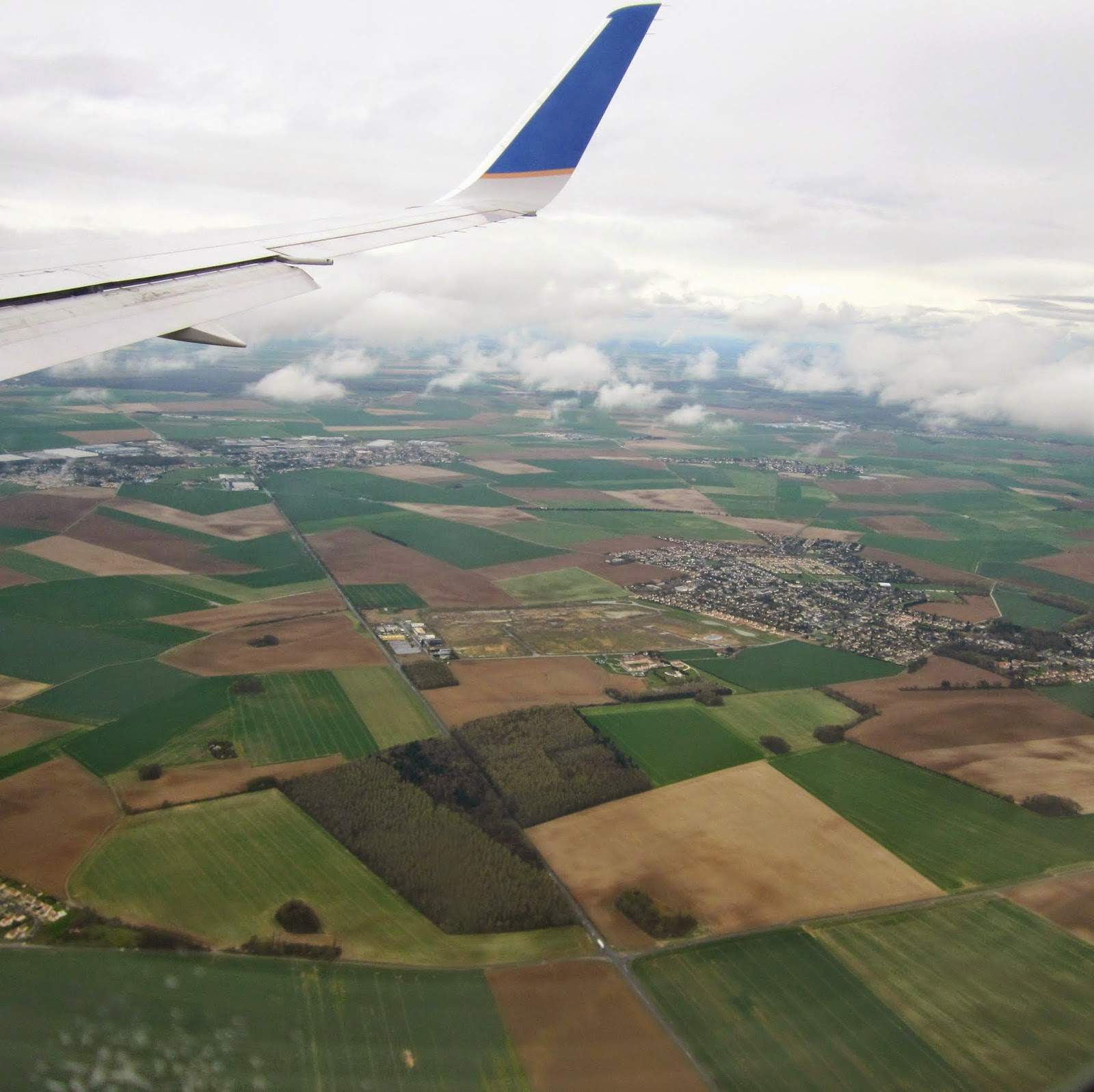 Plane view french countryside france