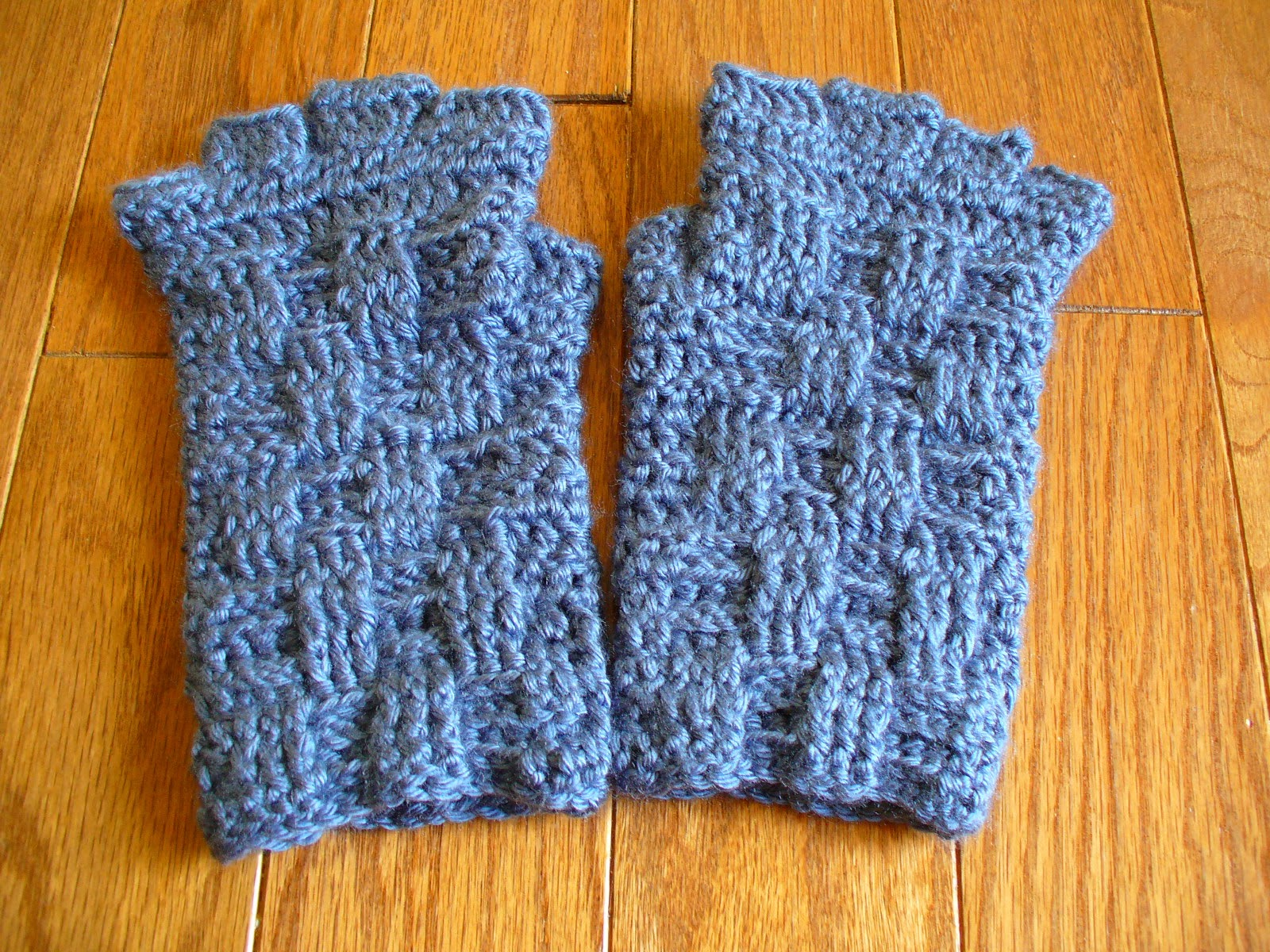 Sanity by Stitches: Basket Weave Fingerless Gloves - Pattern