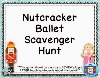 http://www.teacherspayteachers.com/Product/Nutcracker-Ballet-Scavenger-Hunt-1581970