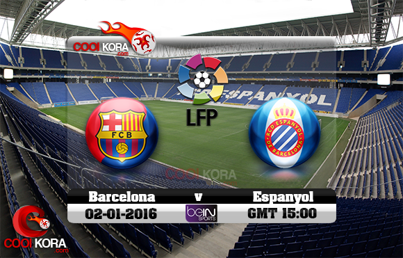 مشاهدة مباراة إسبانيول وبرشلونة اليوم 2-1-2016 في الدوري الأسباني