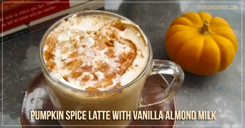 Vegan Pumpkin Spice Latte with Almond Milk
