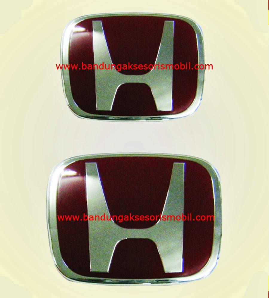 Emblem Paket All New CRV Merah Depan-Belakang Ori  (12.4*9.2cm)