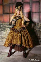 Plus Size Steampunk Wedding Dress