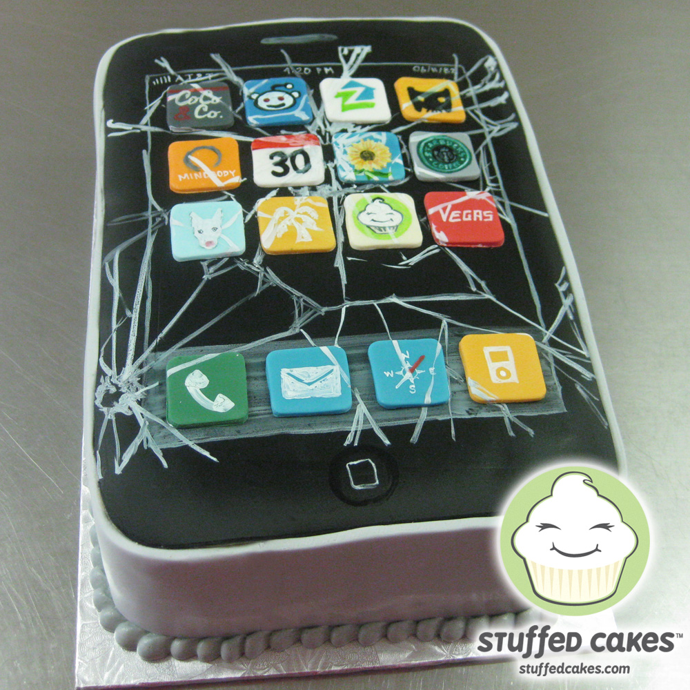 Stuffed Cakes Broken iPhone Cake