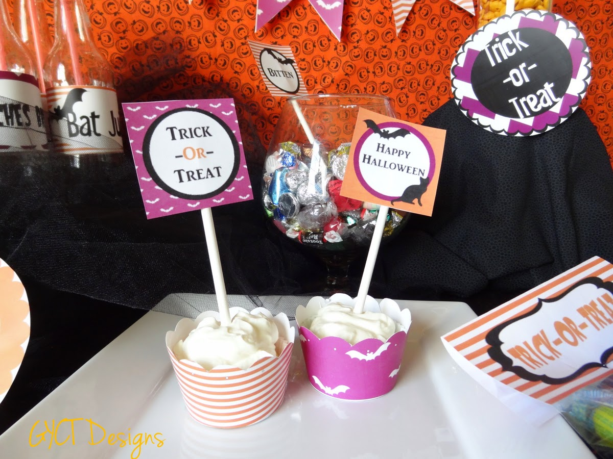 Bats and Cats Halloween Printable Party Pack by GYCT