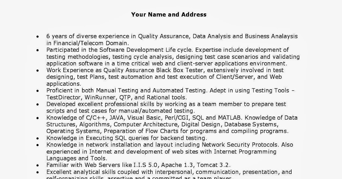Sample Qa Resume resume for qa tester resume for qa qa resume template sample the H1b Sponsoring Desi Consultancies In The United States Quality Analyst Qa Resumes