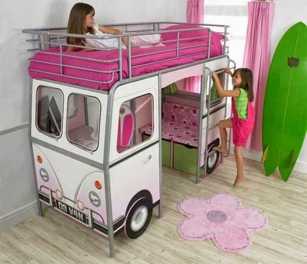 Lit mezzanine bus pour enfant dekobook for Photo lit mezzanine