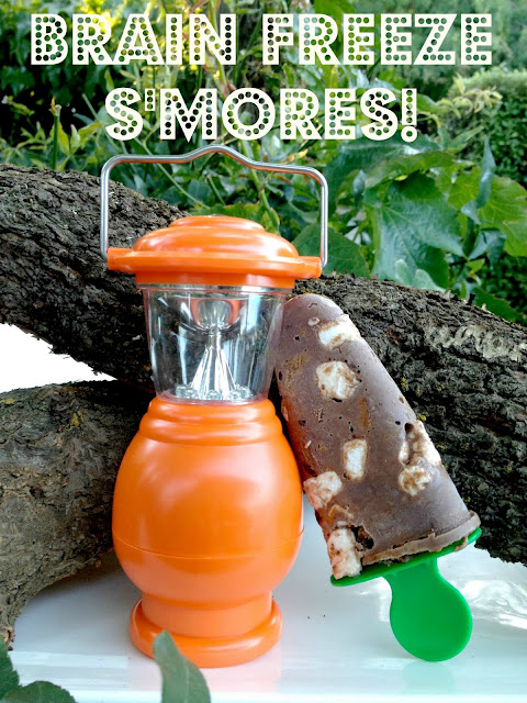 Brain freeze s'mores popsicles
