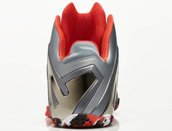 Lebron 11 Elite Varisty Red Black Silver 642846 003 Size 13