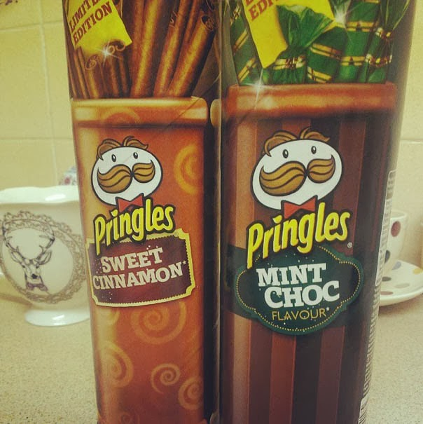 Limited Edition Sweet Cinnamon and Mint Choc Flavour Pringles
