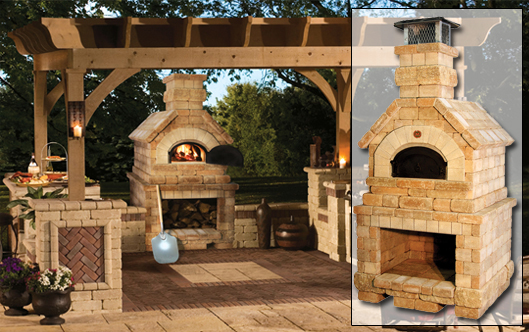 Brick laminate picture brick grill designs - Outdoor kitchen pizza oven design ...