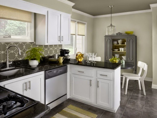 How to choose the right kitchen wall painting color Kitchen wall paint colors with white cabinets