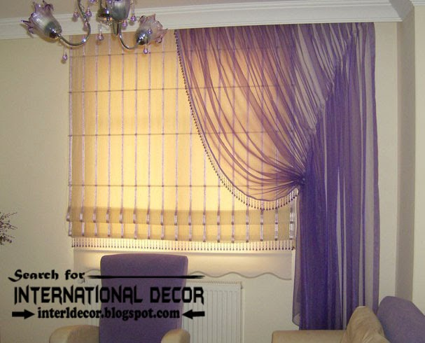 largest catalog of purple curtains and drapes 2015, modern purple sheer curtains with window shade