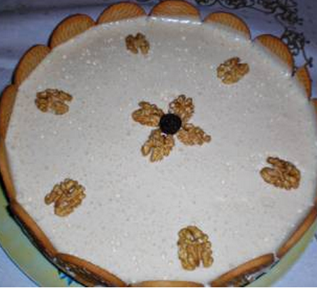 Torta cremosa de nozes light
