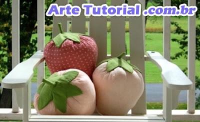 Como fazer almofada em forma de morango – Passo a Passo
