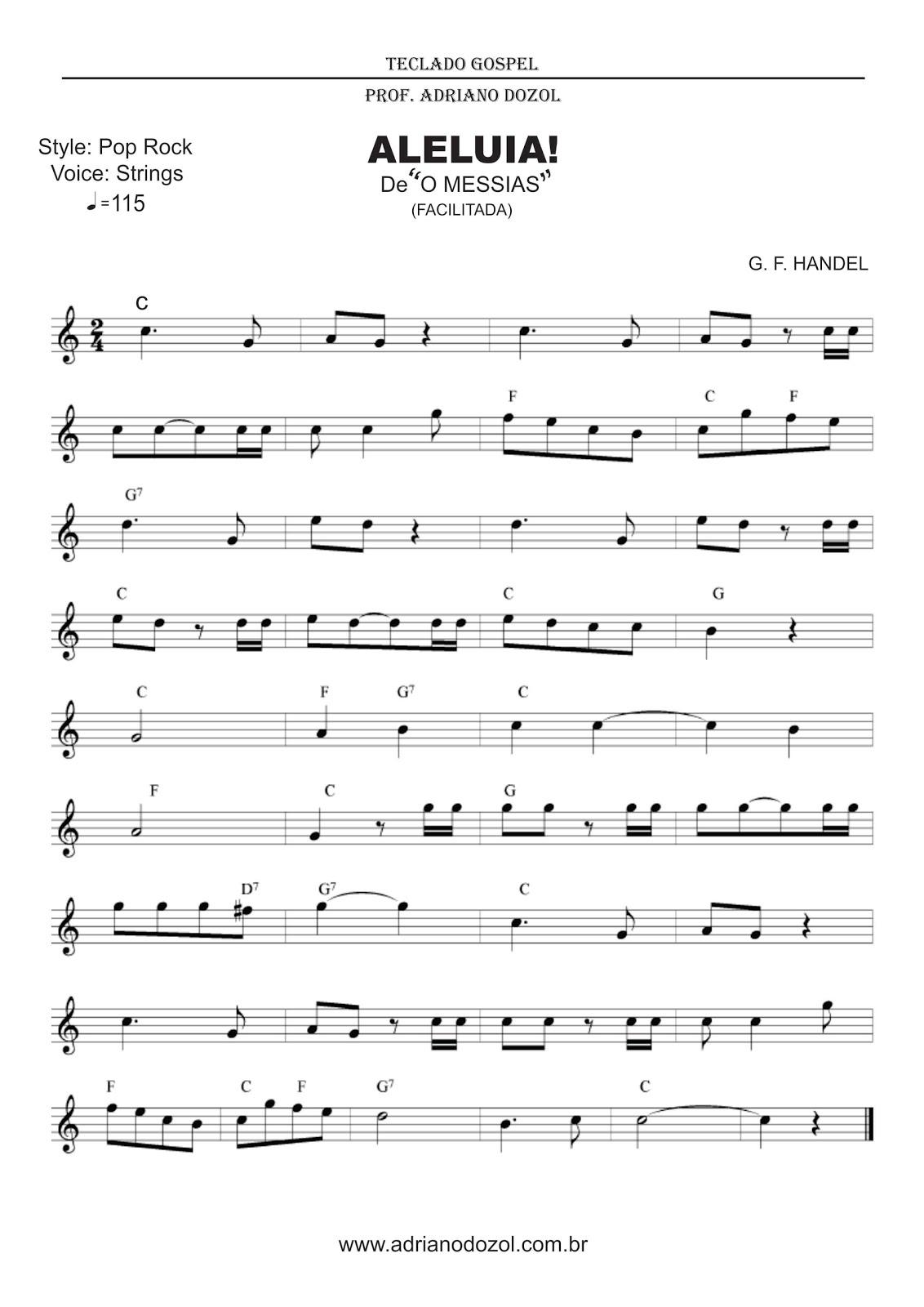 Fabuloso Adriano Dozol - Dicas, Partituras Grátis e Vídeos - Teclado  MF51