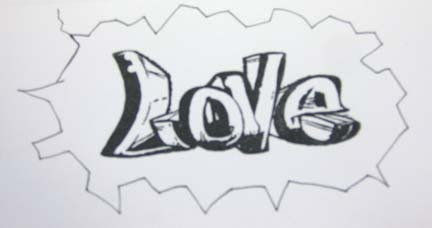 Debduzscrappin Love Graffiti Gtg Card
