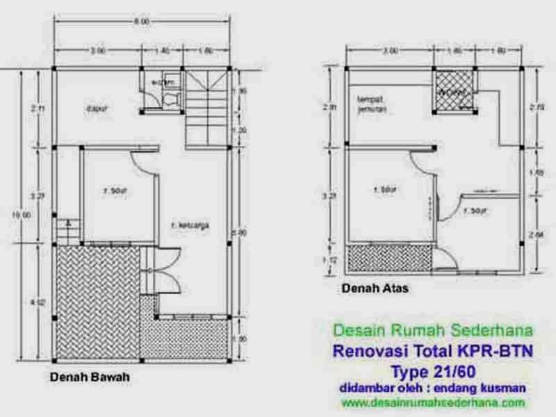 Denah Rumah Minimalis Type 21 Tips Properti Terbaru