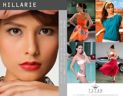 filipina, fashion runway, model, set card
