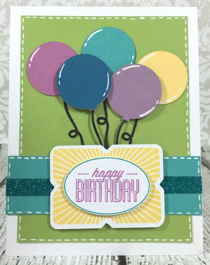 Courtney Lane Designs Cricut Artistry Birthday Balloons Card