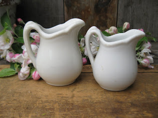 child size ironstone milk pitchers
