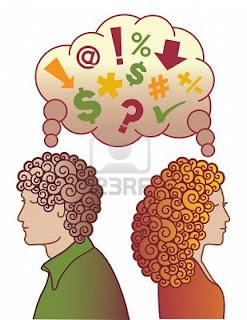 Dos personas pensando