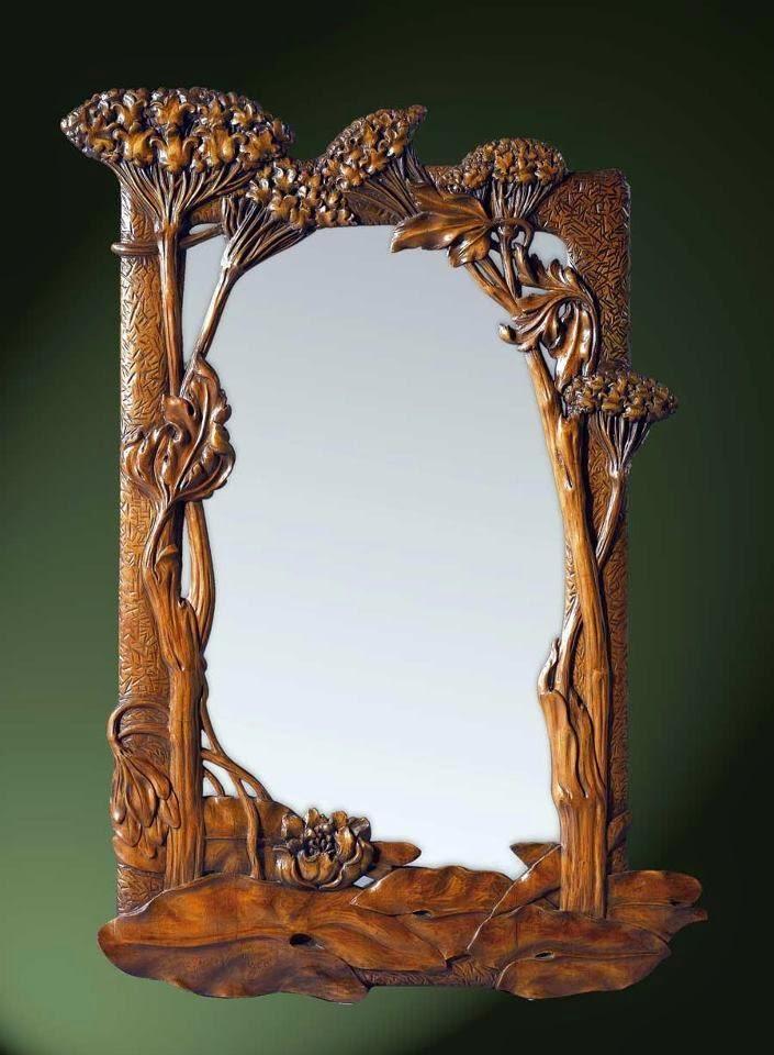 The jewelry lady 39 s store art nouveau mirror for Miroir art nouveau