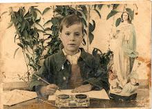 """Alumno Antonio Blanco Jimenez año 1950 en Colegio Grupo Escolar Calvo Sotelo """"El Cementerio"""""""