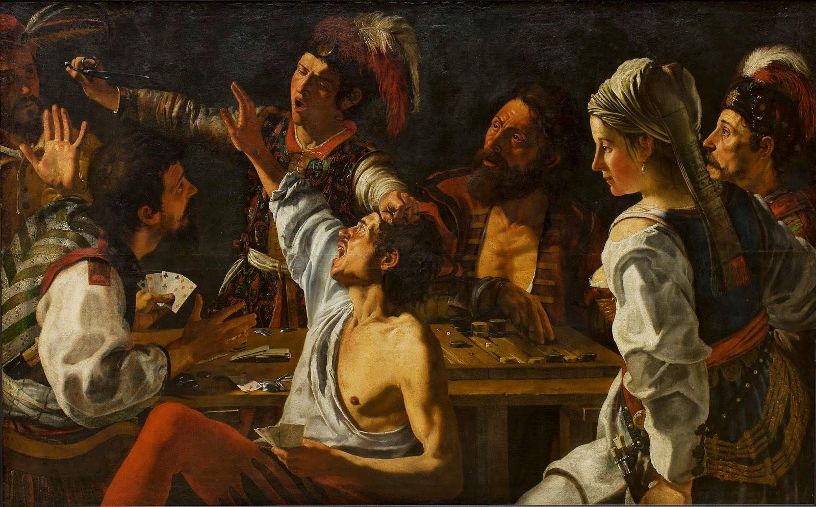 Theodore  Rombouts - La rixe,1620-1630.
