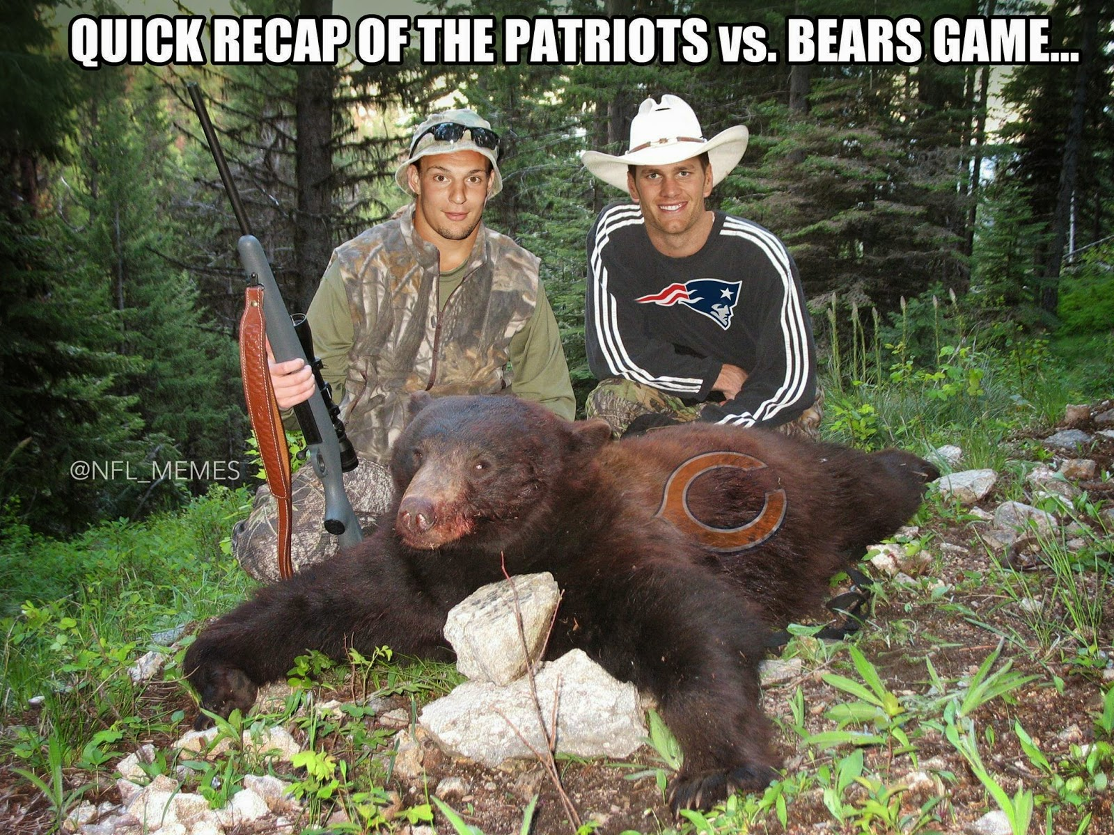 quick recap of the patriots vs. bears game...