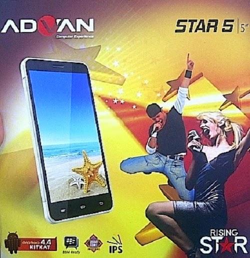 Spesifikasi dan Harga HP Advan Star 5