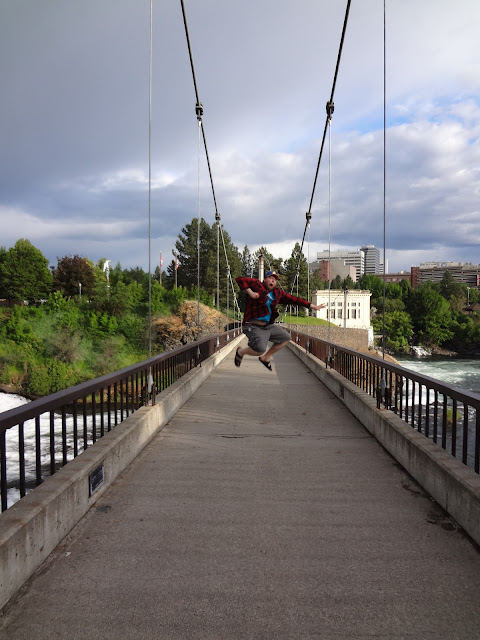 Spokane Washington suspension bridge
