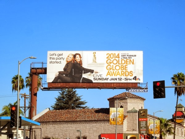 2014 Golden Globes billboard
