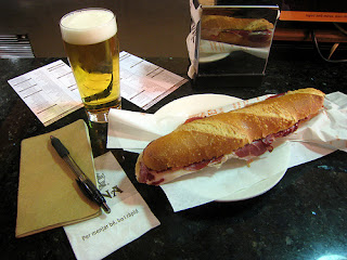 Flauta d'iberico at Cafe Viena Barcelona