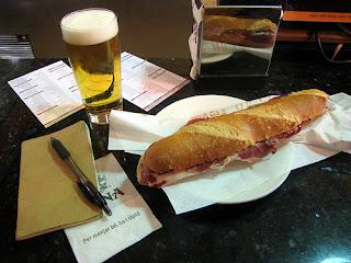 Flauta d'iberico at Cafe Viena Barcelona