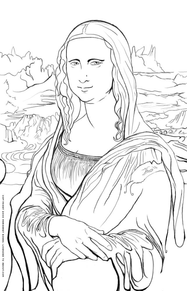free art history coloring pages - photo#3