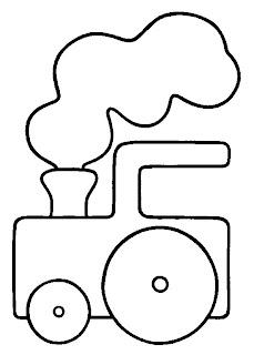 t3 Desenhos de Trenzinho para Imprimir