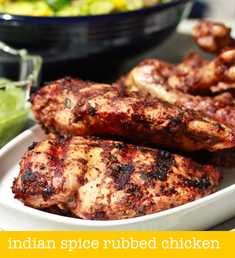 grilled chicken with indian spice blend on a spicy perspective