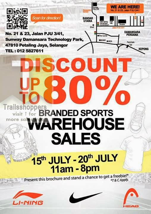 Branded Sports Warehouse sale Sunway Damansara Technology Park