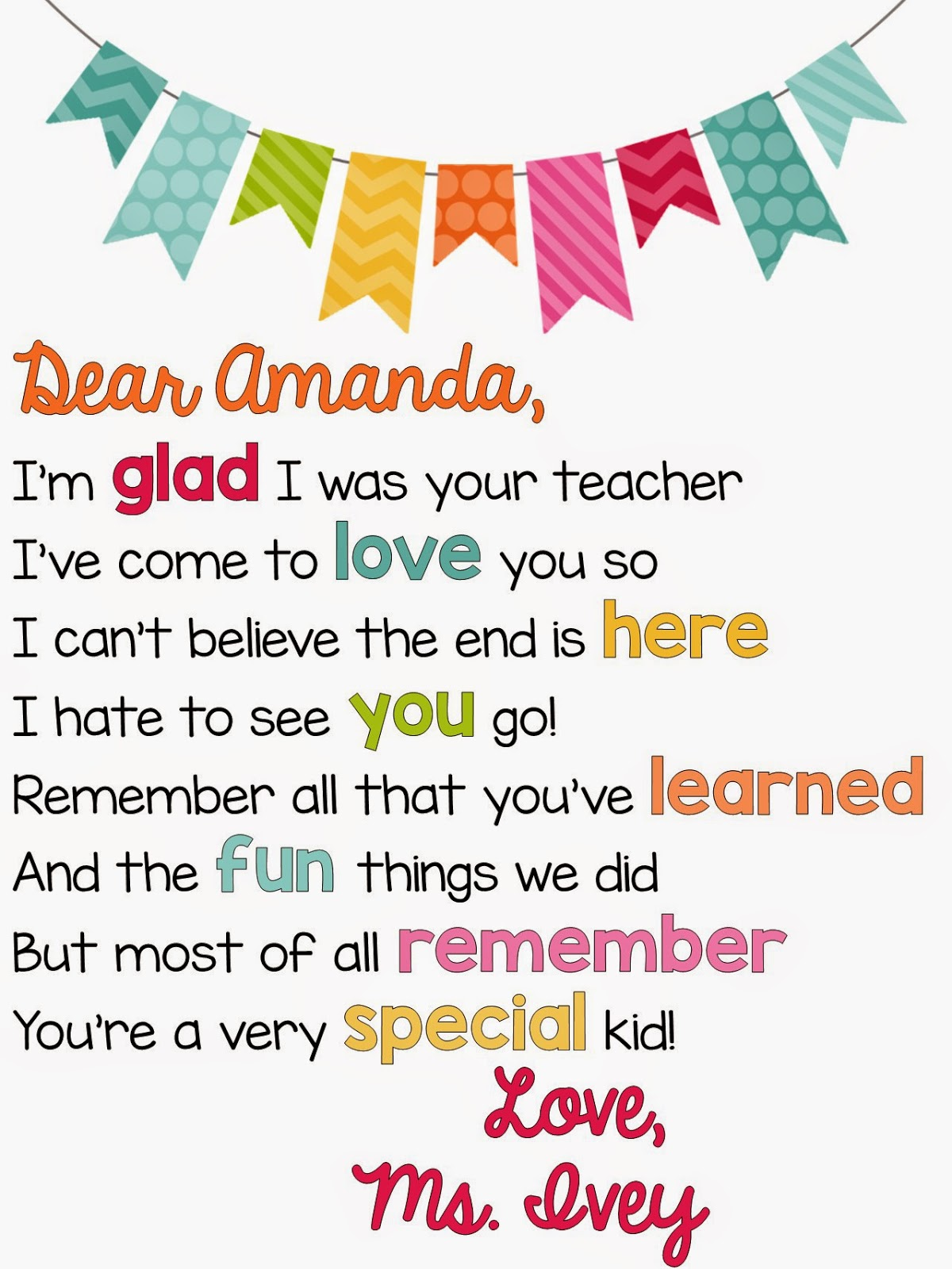 Student you are special poem with Ideas by Jivey.