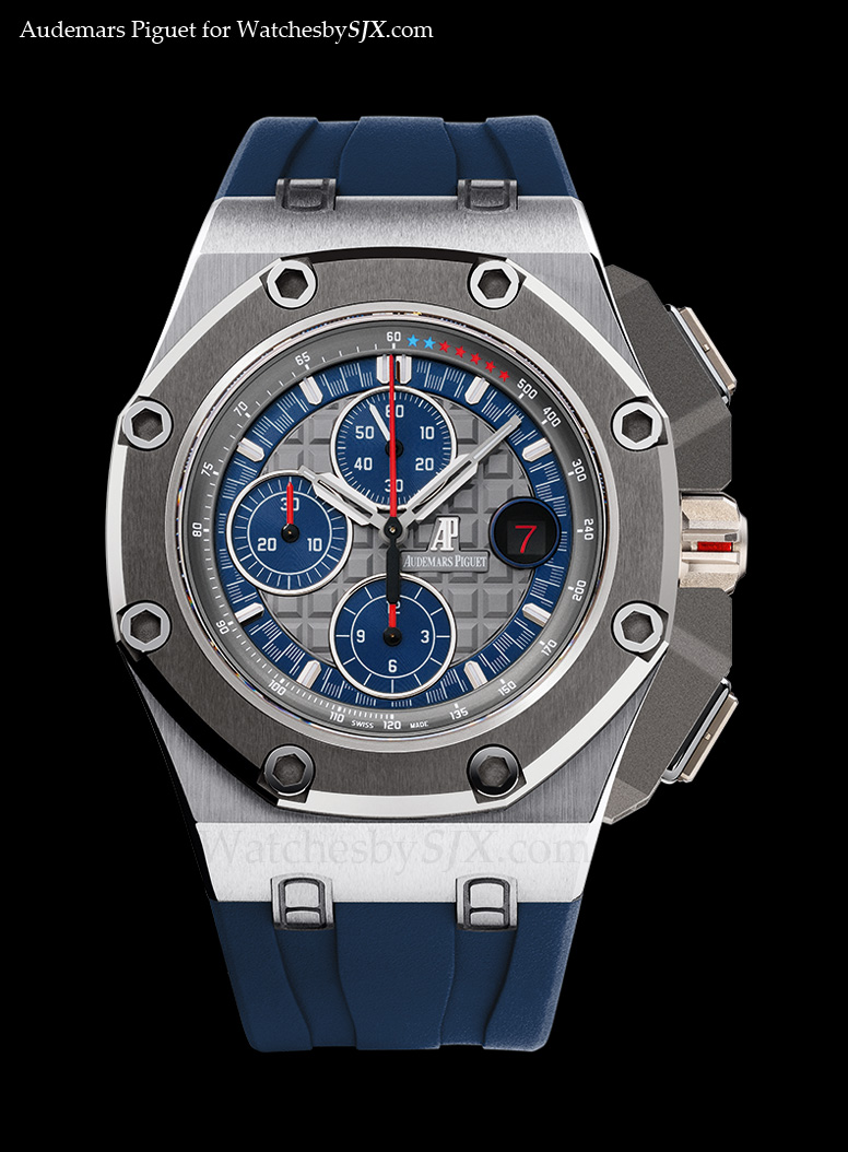 Watches by sjx introducing the audemars piguet royal oak offshore michael schumacher with for Royal oak offshore n7243