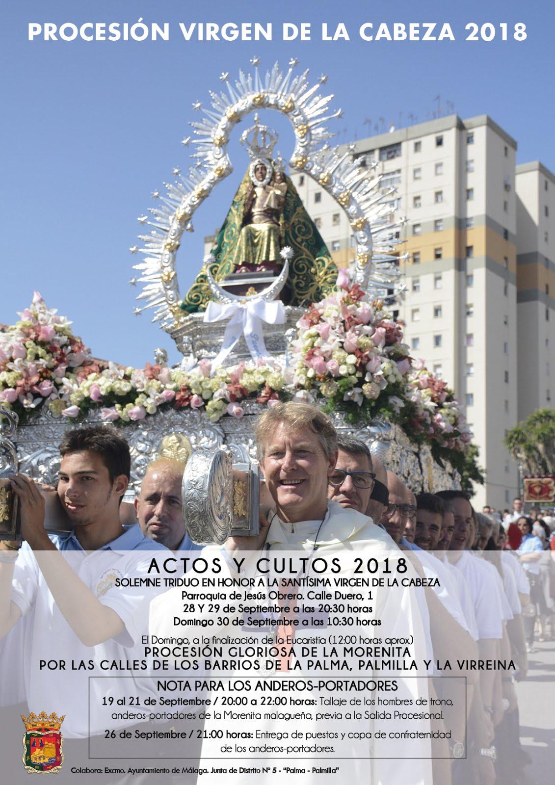 Detalle Cultos y Actos PROCESIÓN 2018